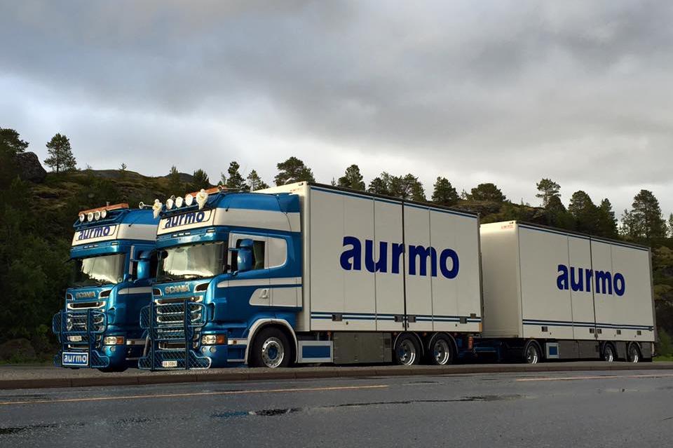 aurmo transport biler med logo